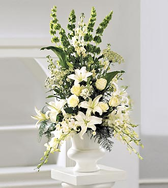 Classic White Arrangement - Click Image to Close