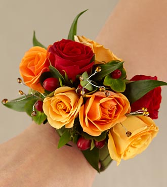 Sunshine Wrist Corsage - Click Image to Close
