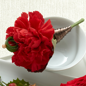 The Red Carnation Boutonniere - Click Image to Close