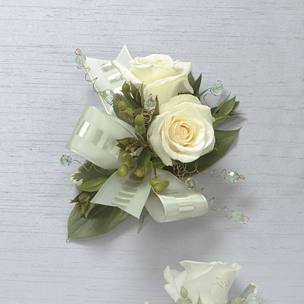 White Rose Corsage - Click Image to Close