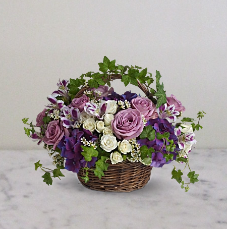 A Full of Life Flowers Basket