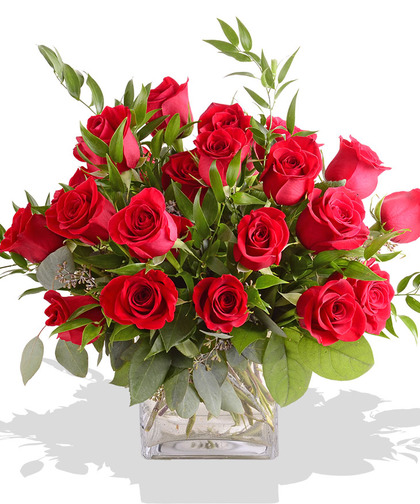 Simply Red Roses Cube - Click Image to Close