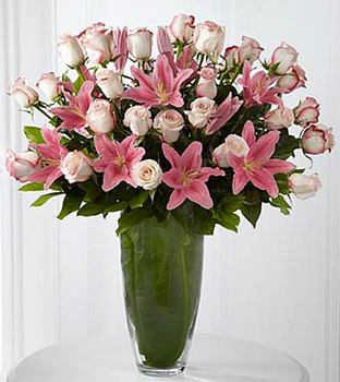 Exquisite Luxury Rose & Lily Bouquet - Click Image to Close