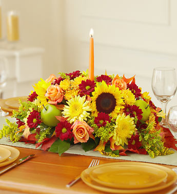 The Floral Centerpiece for Thanksgiving - Click Image to Close